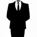 Original Anonymous figure. Twitter picture of @AnonyOps