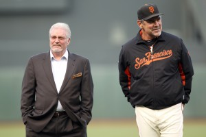 Brian Sabean and Bruce Bochy