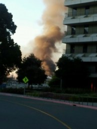 Dieselleak causes fire at Chevron Refinery in Richmond (Aarti Shahani/KQED)