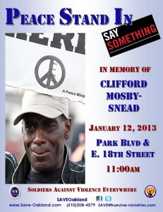 SAVE coalition's call to rally in memory of Clifford Snead, who was murdered in October. Photo courtesy: SAVE.
