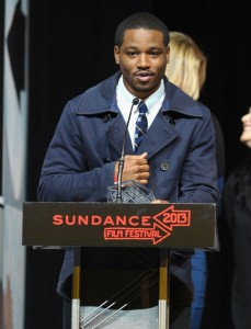 "Ryan Coogler accepts the Audience Award: U.S. Dramatic for ""Fruitvale"" onstage at the Awards Night Ceremony during the 2013 Sundance Film Festival. (Michael Loccisano/Getty Images)"
