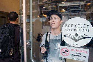 Berkeley City College student Clay Smith (Michael Short/California Watch)