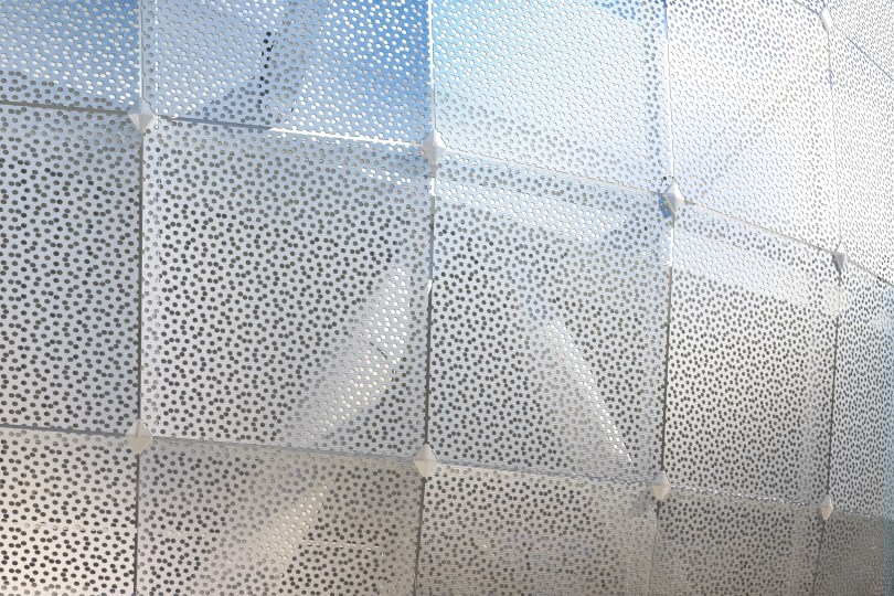 A rendering of a perforated metal design. (Transbay Joint Powers Authority)