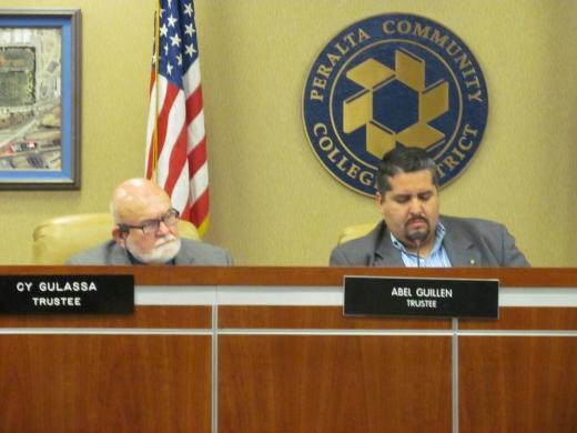 Board President Cy Gulassa (left) and Vice President Abel Guillen (Oakland Local)