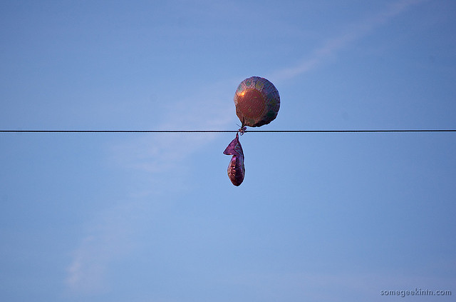 Mylar balloons cause hundreds of power outages a year -- in Northern California alone. (somegeekintn/Flickr)