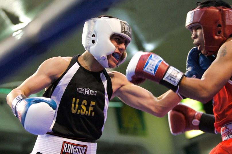 A University of San Francisco women's boxing match. (University of San Francisco)