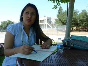 Bekki Zarco is taking summer courses at Evergreen Valley College in San Jose after struggling to get classes she needs during the regular school year.(Charla Bear/KQED)