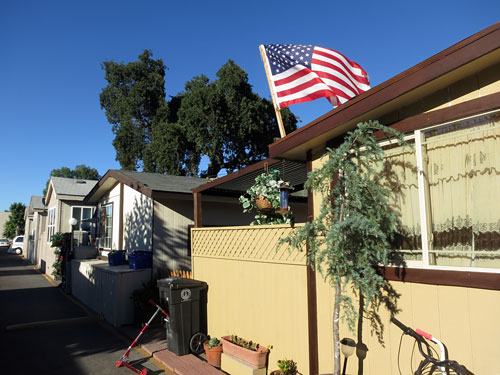 The Buena Vista Mobile Home Park is the last mobile home park in Palo Alto. Photo: Francesca Segre/KQED