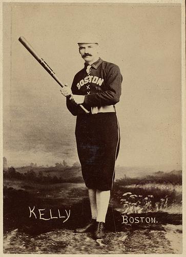 "Michael ""King"" Kelly of the Boston Players League team, circa 1891. (Courtesy of Boston Public Library)"