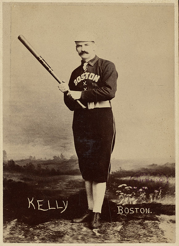 "Michael ""King"" Kelly of the Boston Players League team, circa 1891. (Courtesy of Boston Public Library)"