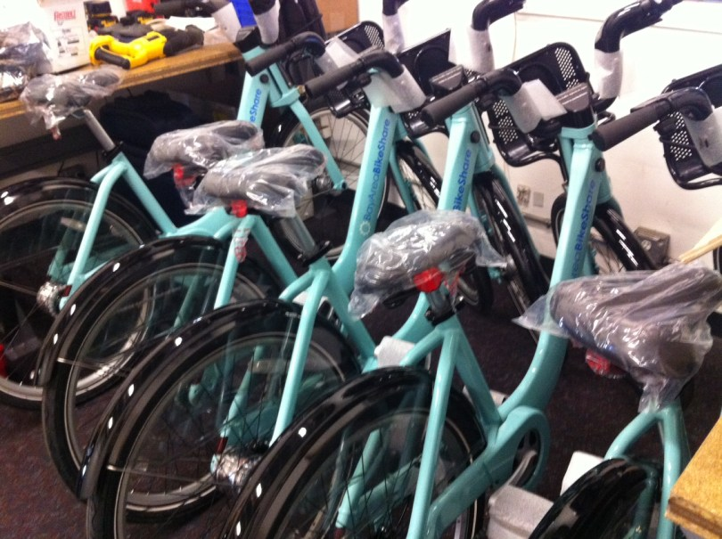 A first peek of the bikes, courtesy of Bay Area Bike Share.
