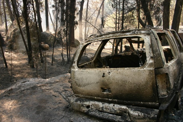 Berkeley's Tuolumne Family Camp was destroyed in the Rim Fire (Grace Rubinstein/KQED)