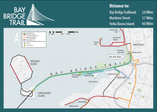 Bay Bridge Trail Map