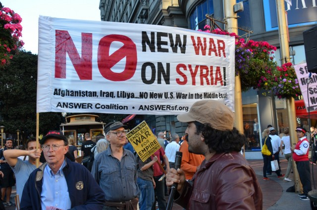 Public opinion in the United States has been running against President Obama's call for a strike against Syria. (WNYC)