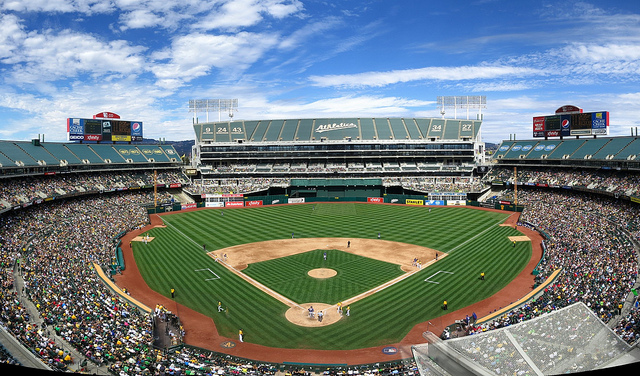 The Oakland A's at their current home, O.co Coliseum. ((Kwong Yee Cheng/Flickr)