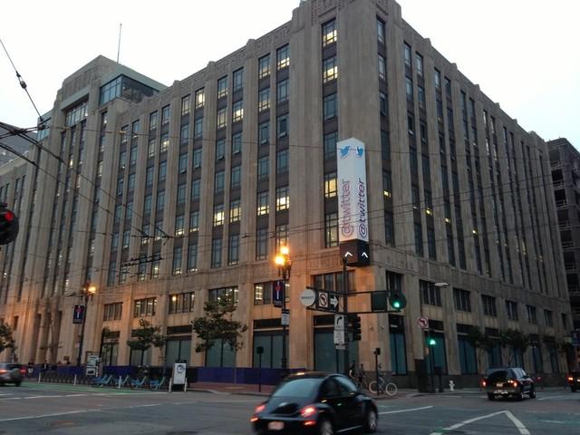 Twitter headquarters, on Market Street in San Francisco (Olivia Hubert-Allen/KQED).