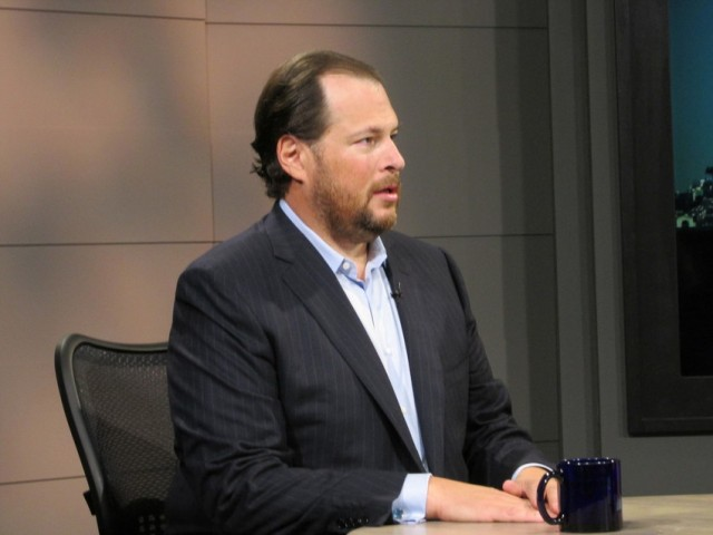 Salesforce CEO Marc Benioff (Don Clyde / KQED)
