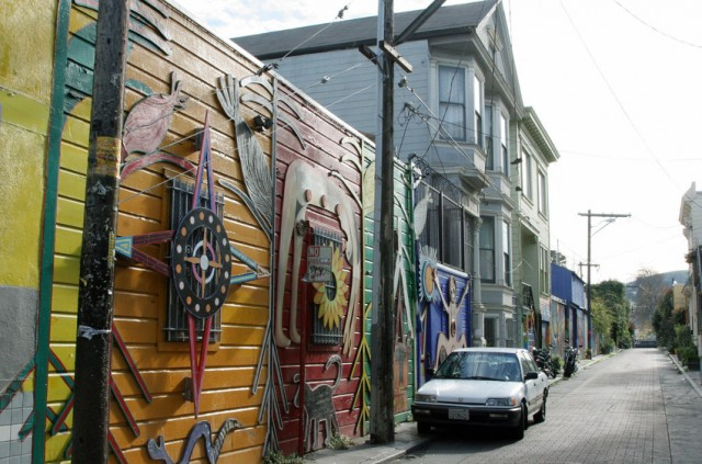 The Inner Mission neighborhood of San Francisco had the highest number of Ellis Act evictions in the past five years. (Gabriel Bouys/AFP/Getty Images)