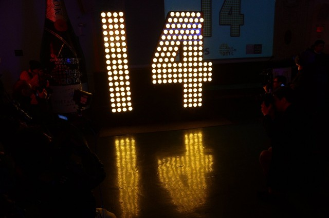 "Numeral that will be part of Times Square New Year's Eve ""ball drop"" display. (Emmanuel Dunand/AFP-Getty Images)"
