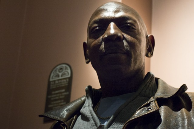 Charles Thomas works at Saint Boniface Church on Golden Gate Avenue. (Sara Bloomberg/KQED)