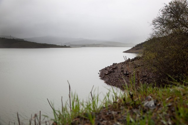 Nicasio Reservoir, one of seven lakes supplying the Marin Municipal Water District. (Mark Andrew Boyer/KQED).