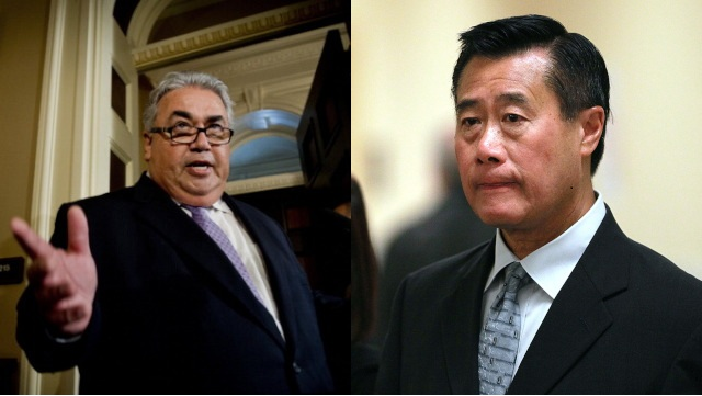 State Senators Ron Calderon (L) and Leland Yee.