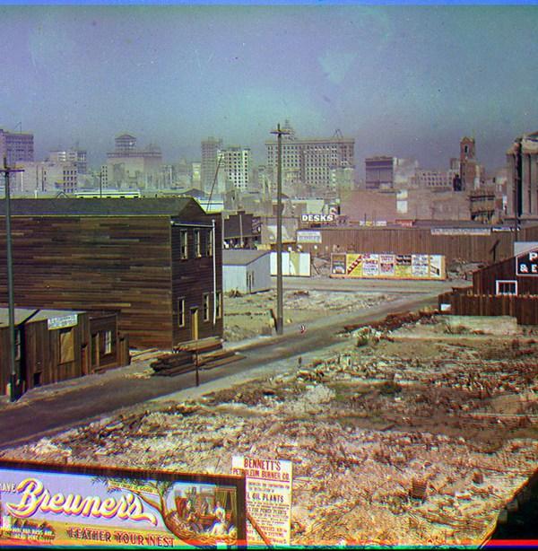 A view towards downtown San Francisco, October 1906. (Frederick Eugene Ives, via Smithsonian)