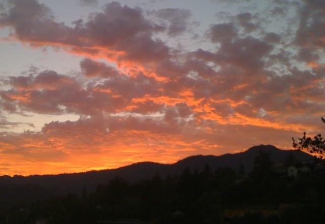 Mount Tamalpais, seen from Mill Valley at sunset (Grace Rubenstein/KQED)