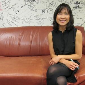 Organizer Winnie Wong. (Christine Hsu/KQED)