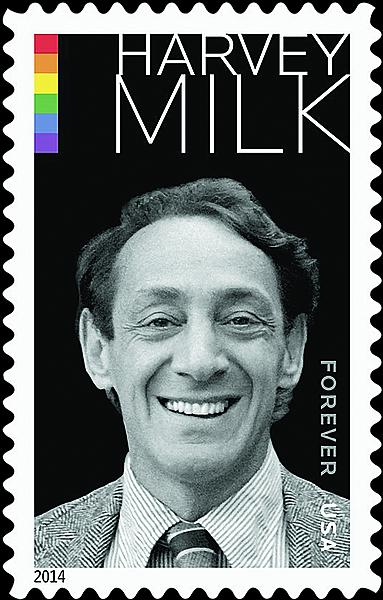 The new Harvey Milk stamp, released today.