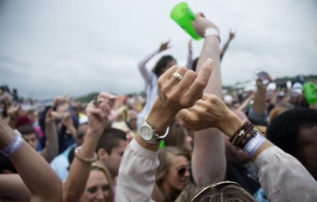 The Preakness infield has long been a big party scene. (Jim Watson/Getty Images)