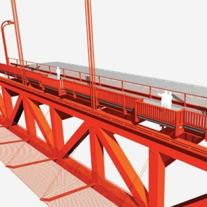 A rendering of the proposed suicide barrier. (Courtesy Golden Gate Bridge District)