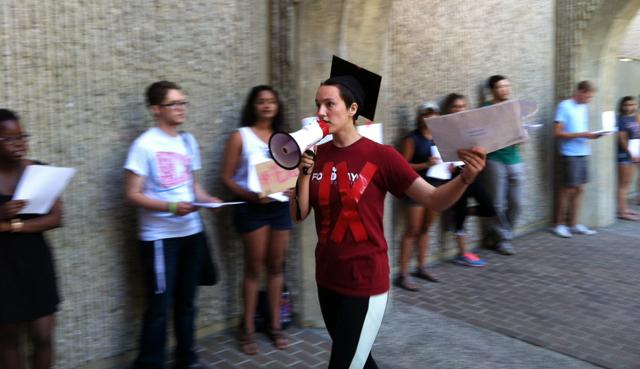 Leah Francis at rally.