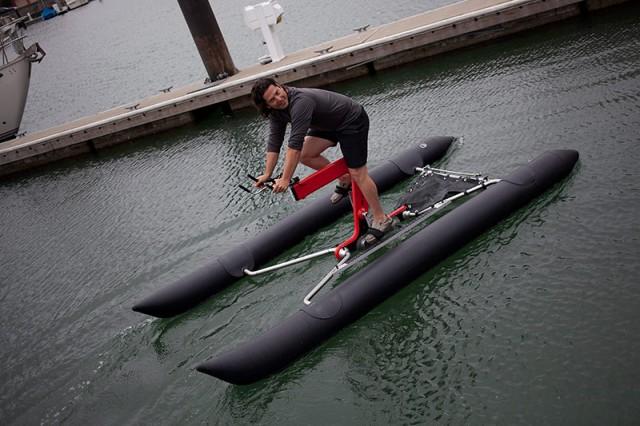 Judah Schiller's waterbike
