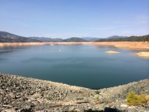 Shasta Lake, California's largest reservoir. September 2014.