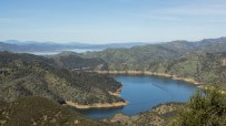 Lake Berryessa, north of Vacaville, captures the water of Putah Creek and is the state's seventh-largest reservoir. February 2015.