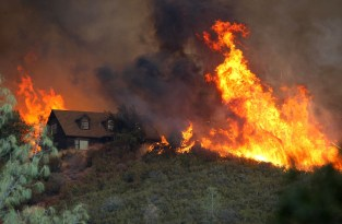 On Friday, flames framed a house east of the town of Lower Lake. By Saturday, thousands of nearby residents had been evacuated or alerted they needed to be ready to leave as the Rocky Fire advanced toward the southeastern end of Clear Lake. L