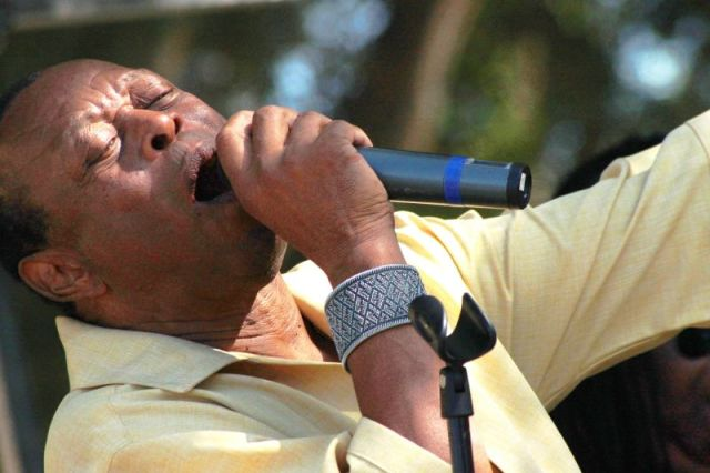 Los Angeles R&B legend Charles Wright performing at the annual Watts Summer Festival