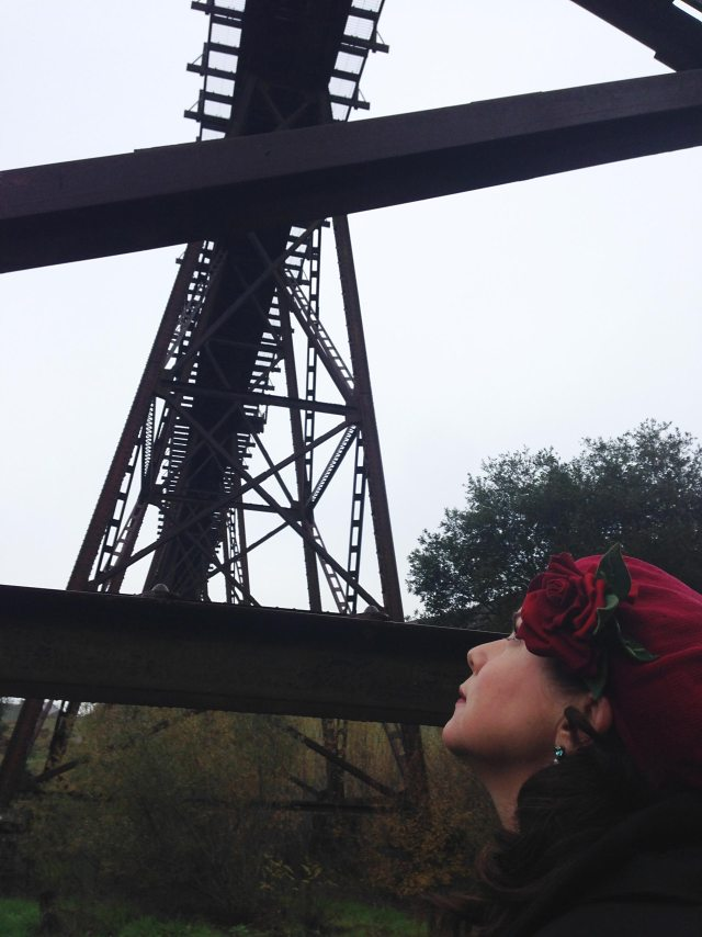 "San Luis Obispo resident Heidi Harmon describes Stenner Creek Trestle as ""stunning to look at but terrifying to consider a mile-and-a-half long oil train coming over."""