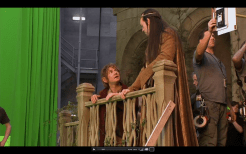 12 The Hobbit Production Video #2 - Hugo Weaving as Elrond and Martin Freeman as Bilbo Baggins in Rivendell