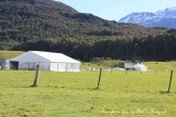 Support tents on location with The Hobbit: close shot