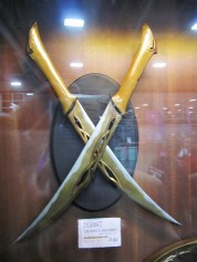 Tuariel's knives, Weta booth, Salt Lake Comic Con 2013.