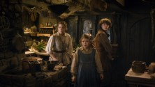 Peggy Nesbit, Mary Nesbit and John Bell as the children of Bard The Bowman.