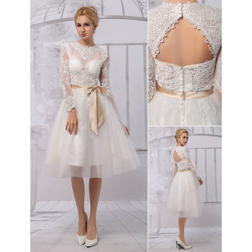 Medium Crop Of Knee Length Wedding Dresses