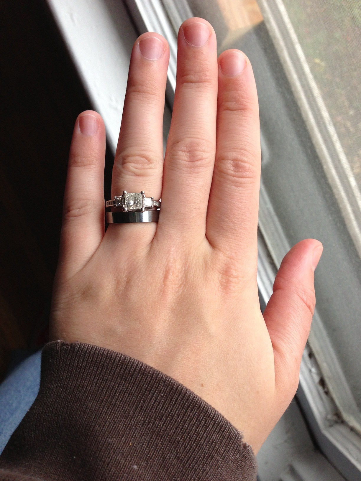 engagement ring and wedding bands tungsten wedding rings engagement ring and wedding bands