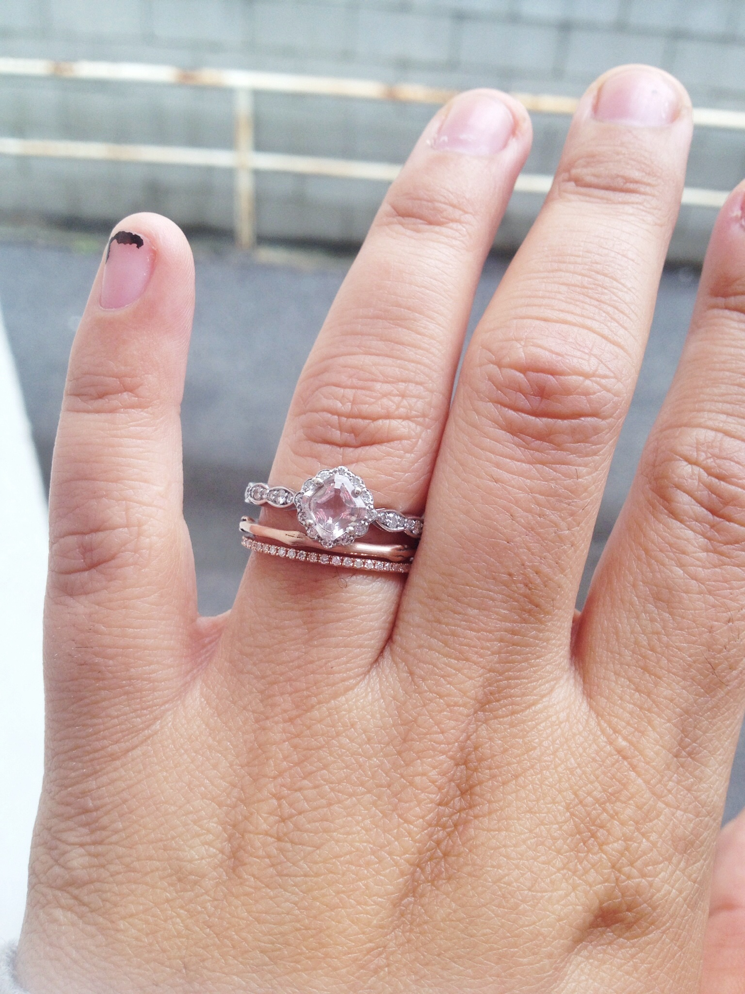 show me your ring guards ring enhancers stacking rings wedding ring guard Post 4