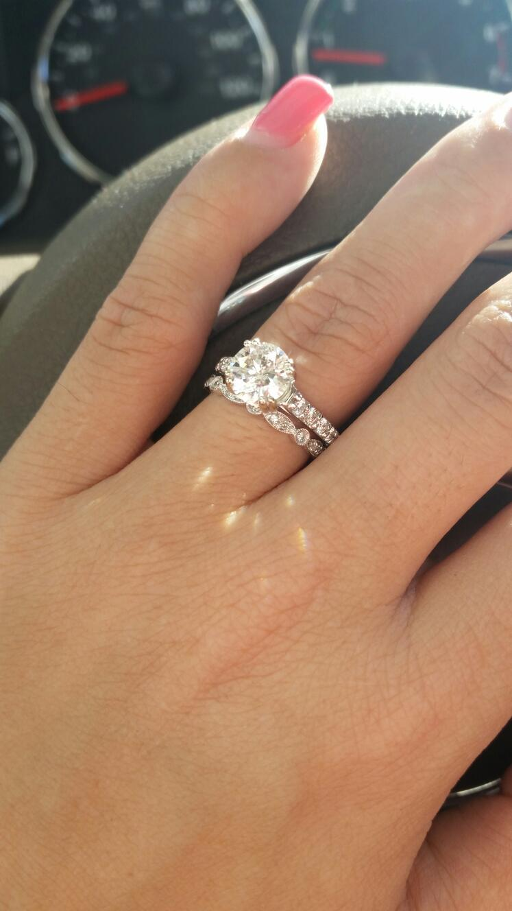 just cleaned my ring show me your sparklies pretty wedding rings So pretty