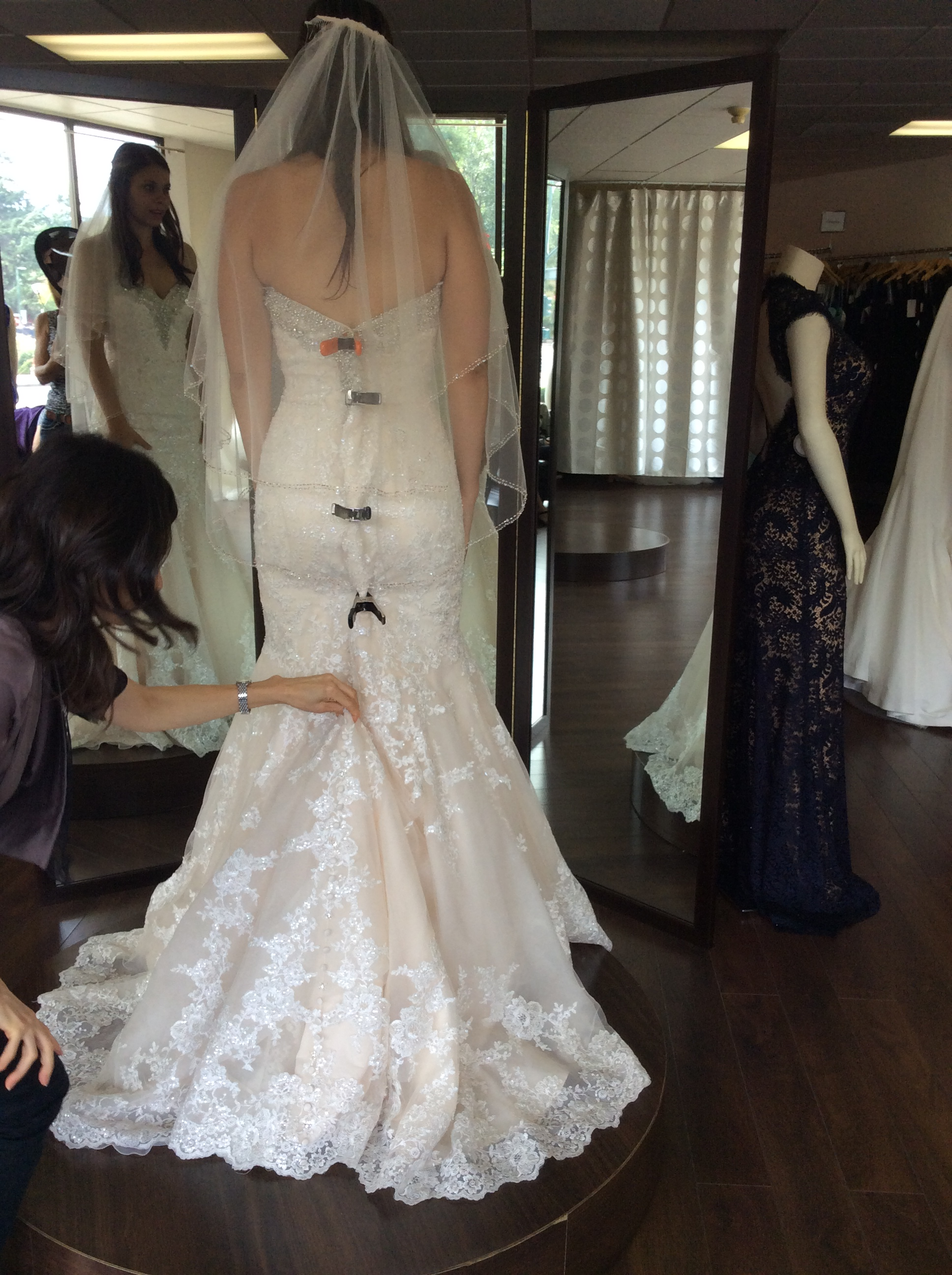 can i see your ivory over light gold dresses preferably maggie sottero gold dress for wedding Left the pics big so you could see the light gold better My dress is light gold ivory lace and silver