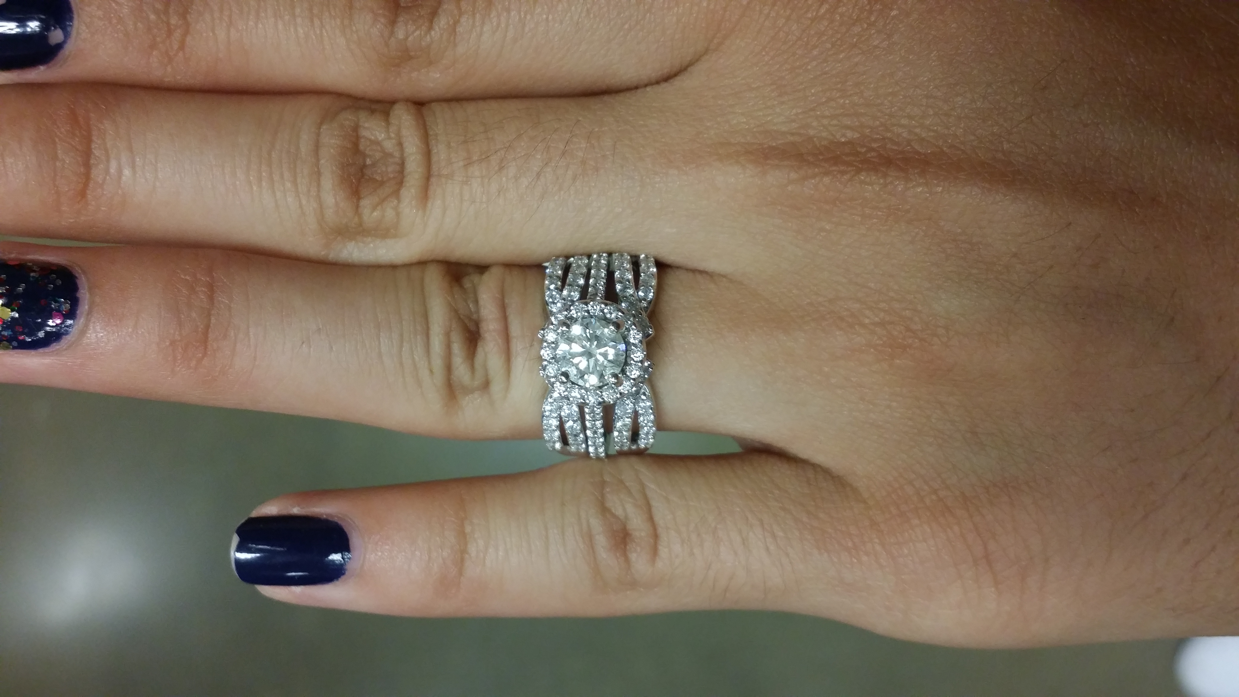 we bough our wedding bands my halo ring enhancerring guard pics wedding ring guard 3 more months IMG 1