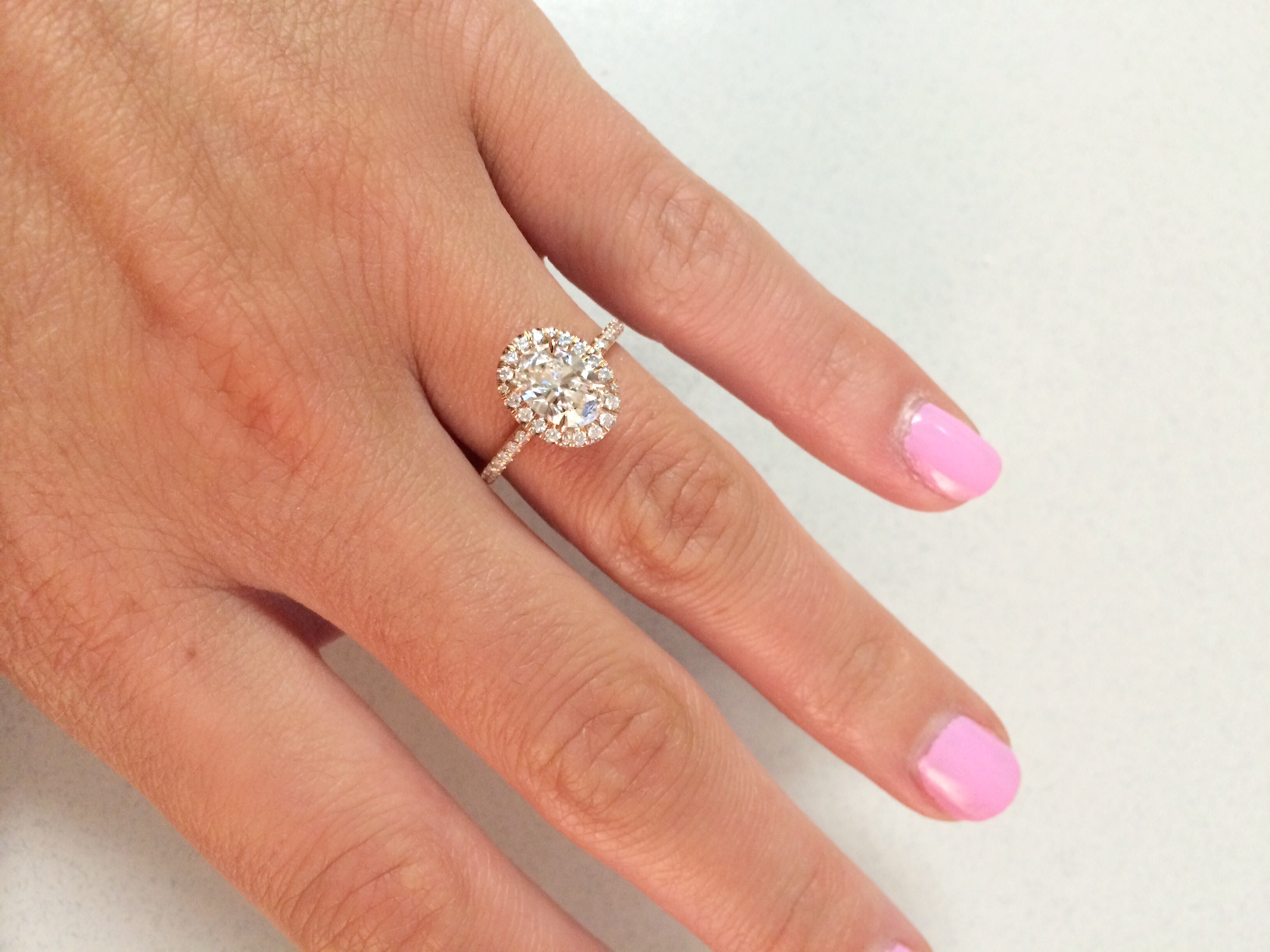 show me your oval halo engagement rings rose gold wedding rings Show me your oval halo engagement rings